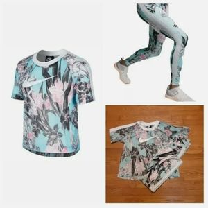 Nike Hyper Femme Floral Mesh Leggings & Top Set